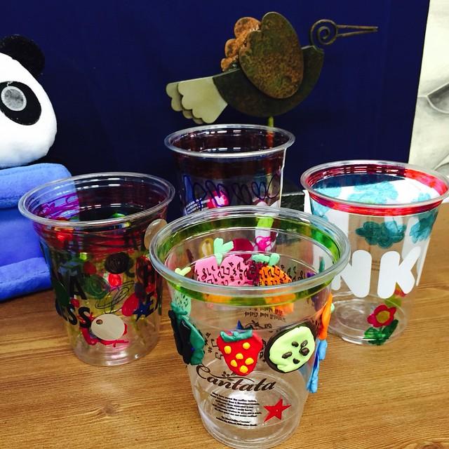 여름 음료 투명컵 재활용 만들기