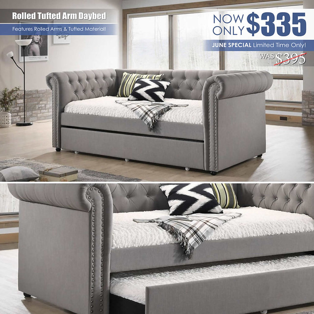 Rolled Tufted Arm Daybed_JuneSpecial