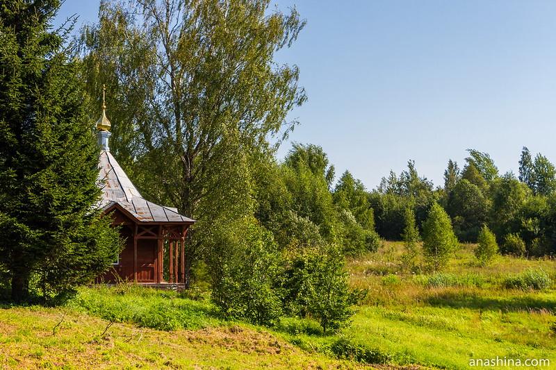 Часовня Николая Чудотворца, Малый Городок, озеро Мстино