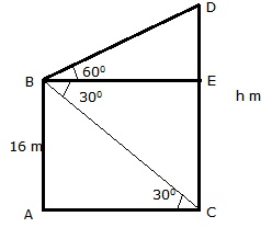 RS Aggarwal Solutions Class 10 Chapter 14 Height and Distance Ex 14a 44