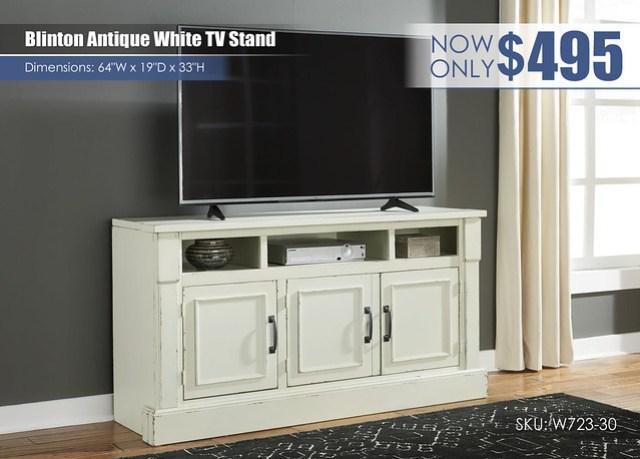 Blinton Antique White TV Stand_W723-30