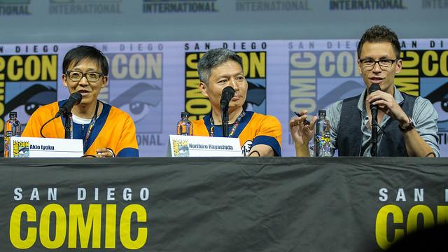 Akio Iyoku, Norihiro Hayashida and Translator
