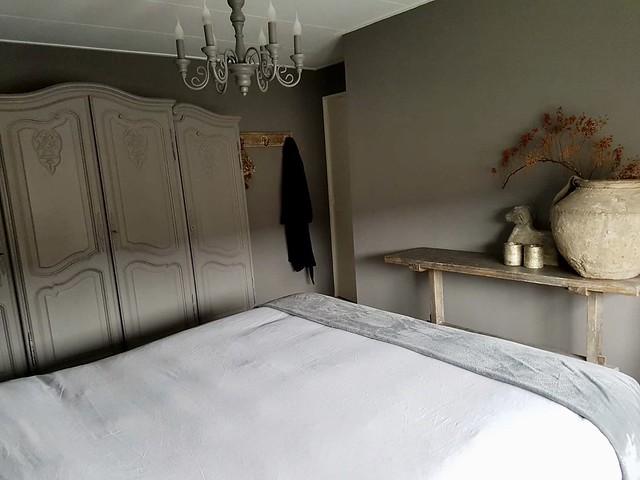 Slaapkamer landelijk sober interieur