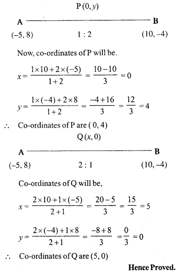 Selina Concise Mathematics Class 10 ICSE Solutions Chapter 13 Section and Mid-Point Formula Ex 13A 15.1