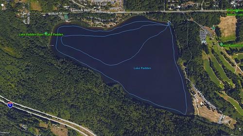 Lake Padden Paddle Route