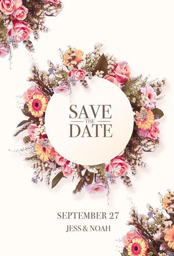 Graphic Design Wedding Card