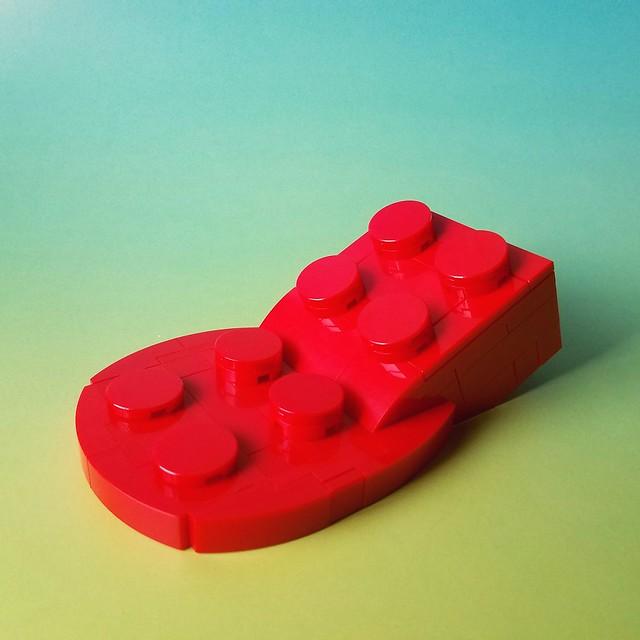 Briques LEGO fondues