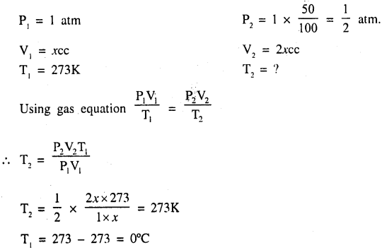 New Simplified Chemistry Class 9 ICSE Solutions - Study of The First Element - Study of Gas Laws 5.1
