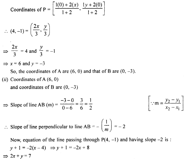 Selina Concise Mathematics Class 10 ICSE Solutions Chapter 14 Equation of a Line Ex 14E 41.1