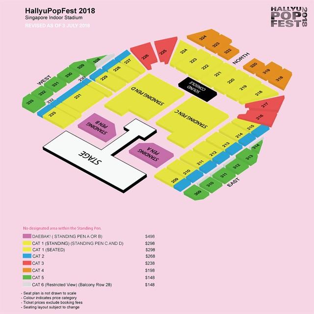 HallyuPopFest 2018 - Seating Plan (updated)
