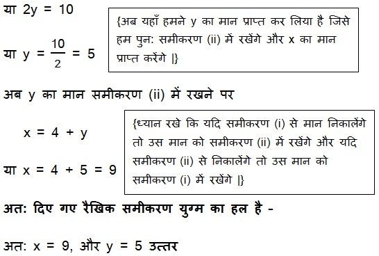 NCERT Books Solutions For Class 10 Maths Hindi Medium Pairs of Linear Equations in Two Variables (Hindi Medium) 3.2 32