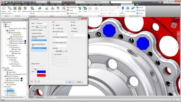 Working with Autodesk Nastran 2019 R1 full