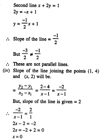 Selina Concise Mathematics Class 10 ICSE Solutions Chapter 14 Equation of a Line Ex 14D 3.2