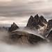 """Dramatic sunrise""     Cadini di Misurina - Dolomites"