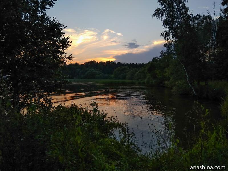 Закат, Пестовское водохранилище