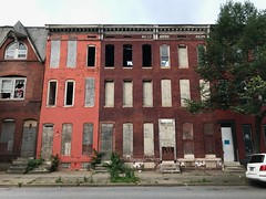 Vacant rowhouses, 1338-1342 Division Street, Baltimore, MD 21217