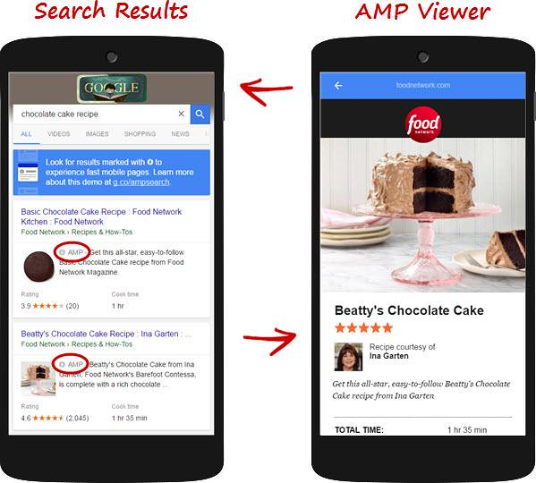 amp on search engine