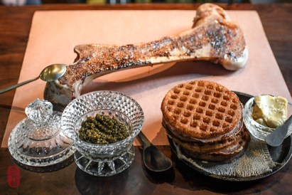 Marrow, Waffles, Caviar