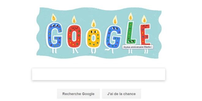 google-anniversaire-martin