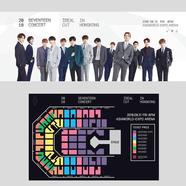 2018 SEVENTEEN 'IDEAL CUT' CONCERT IN HONG KONG SEATING PLAN
