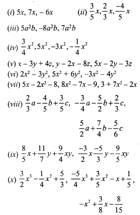 RS Aggarwal Class 7 Solutions Chapter 6 Algebraic