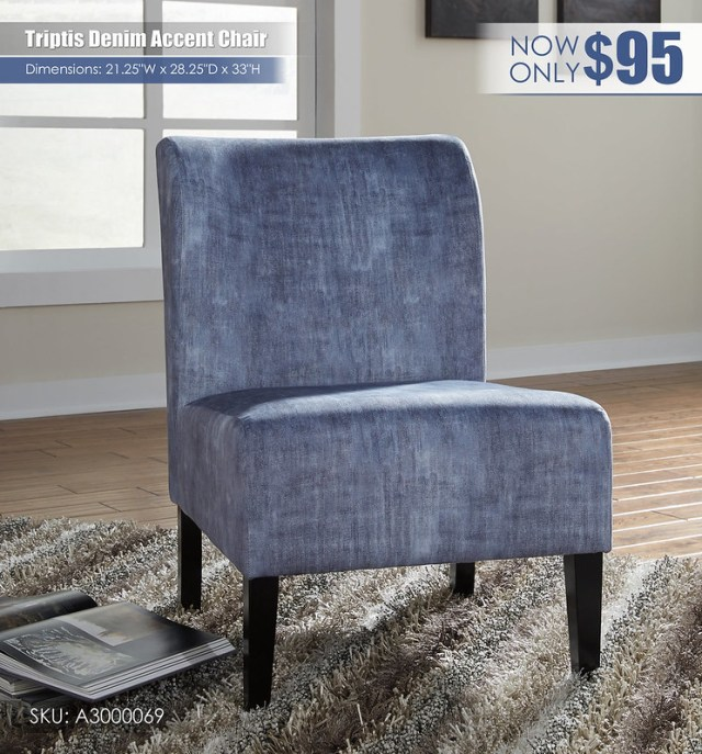 Triptis Denim Accent Chair_A3000069
