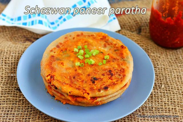 Schezwan paneer paratha