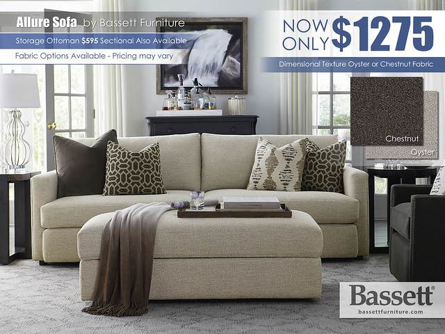 Allure Sofa by Bassett Furniture_Oyster