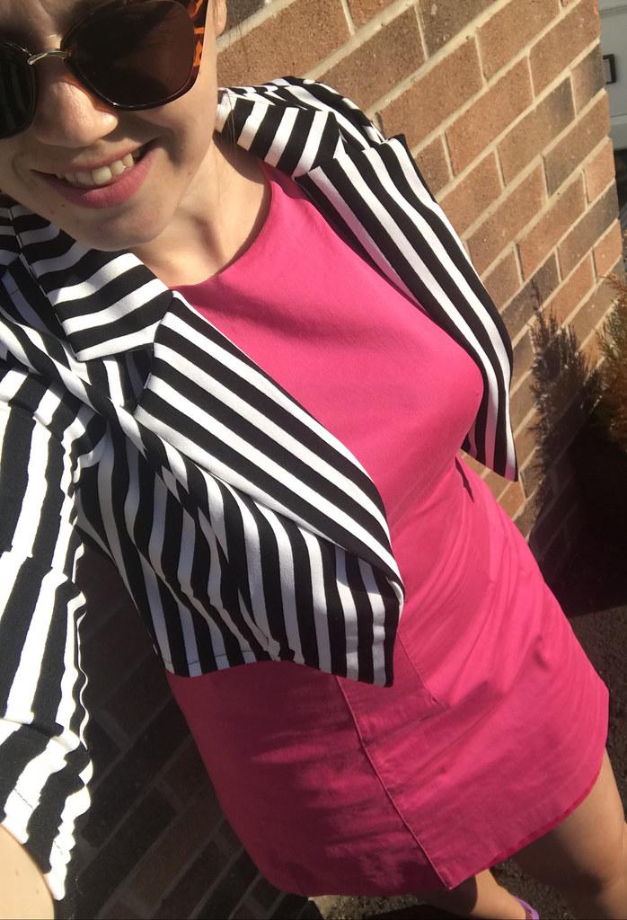 Selfie Stripes Cerise Pink