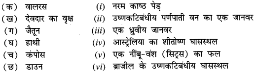 NCERT Solutions for Class 7 Social Science Geography Chapter 6 (Hindi Medium) 1