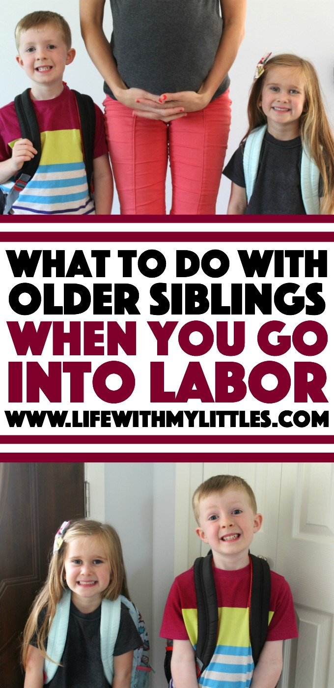 Not sure what to do with older siblings when you go into labor? Here are three options, the pros and cons of each, and how to make your decision before you have your baby!