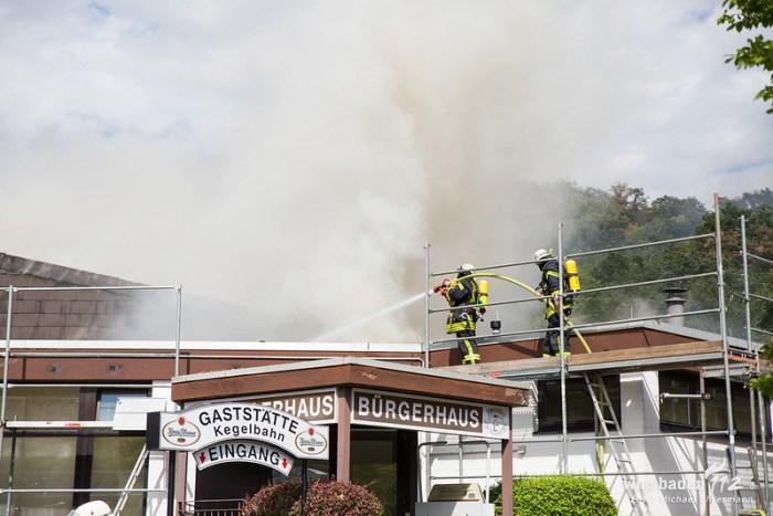 Feuer Bürgerhaus Rückershausen 10.08.18