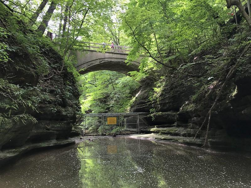 Pedestrian bridge at Matthiessen State Park
