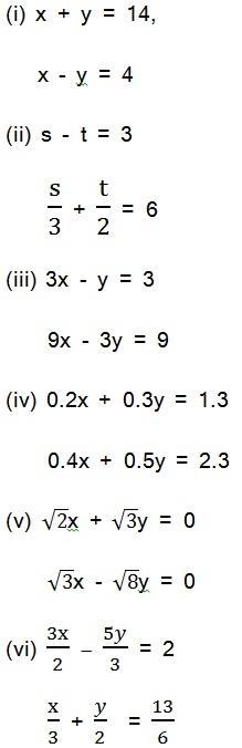 Solutions For Maths NCERT Class 10 Hindi Medium Pairs of Linear Equations in Two Variables (Hindi Medium) 3.2 31