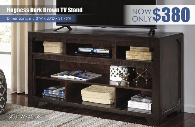 Rogness Dark Brown TV Stand_W745-58