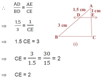 triangles class 10 Ex 6.2 in Hindi Medium Q 1
