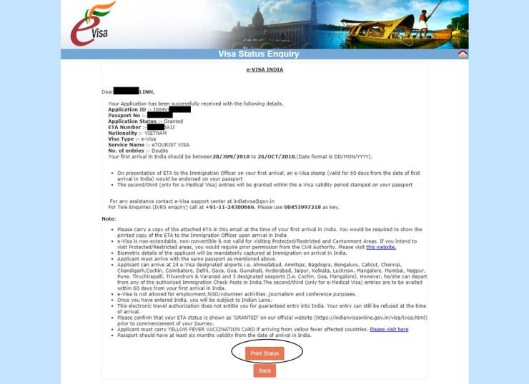 xin Visa Ấn Độ online