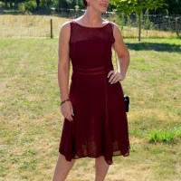 Outfit of the week: Burgundy dress