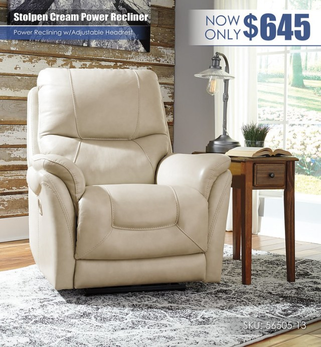 Stolpen Cream Power Recliner_56505-13