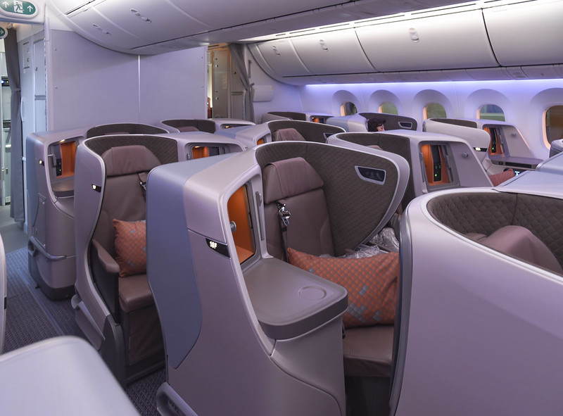 singapore airlines dreamliner business class