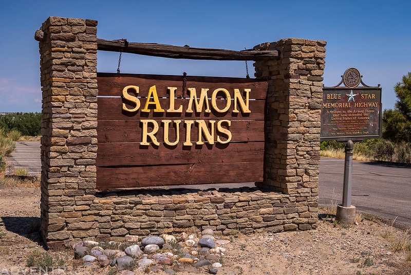 Salmon Ruins Sign