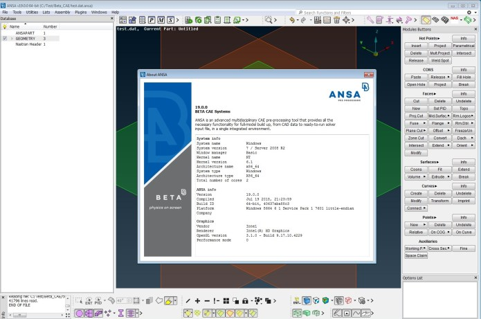 Working with BETA CAE ANSA v19.0.0 x64 full