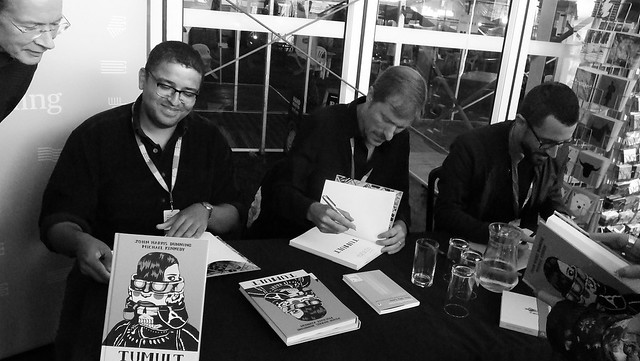 Edinburgh International Book Festival 2018 - John Dunning Michael Kennedy and Javi Rey 01