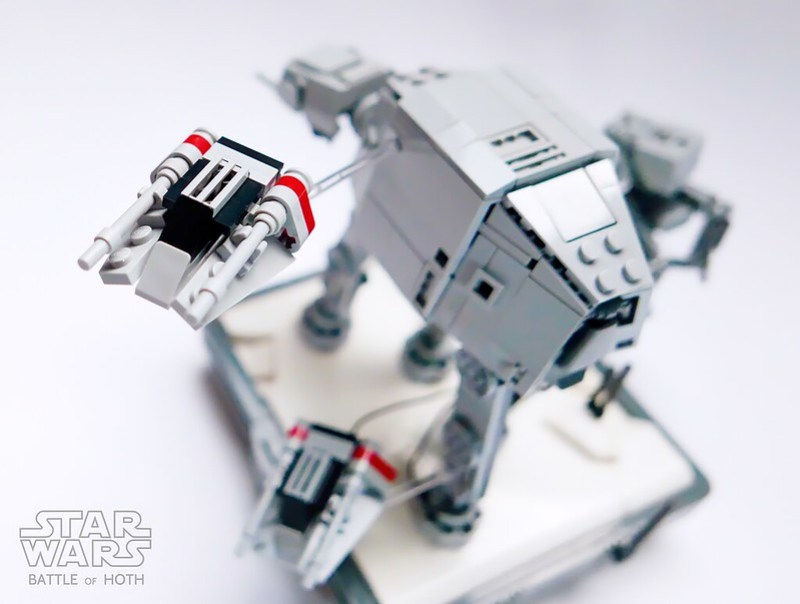 Nanofigure-scaled AT-AT LEGO MOC v4.0