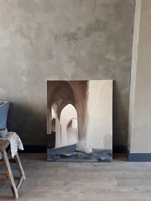 Schilderij landelijk interieur