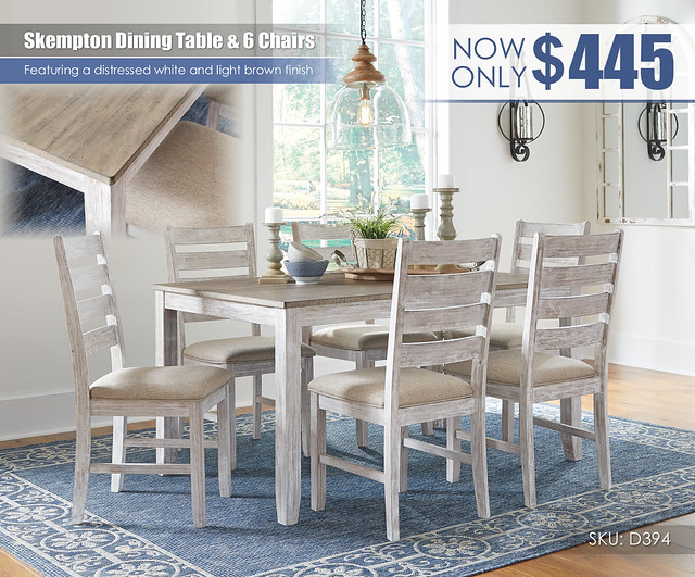SkemptonTable & 6 Chair Dining Set_D394-425-R403