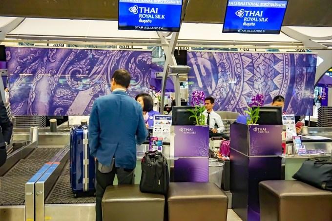 180815 スワンナプーム空港タイ国際航空ビジネスクラスカウンター