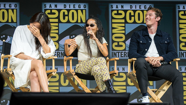 Claudia Kim, Zoë Kravitz and Callum Turner