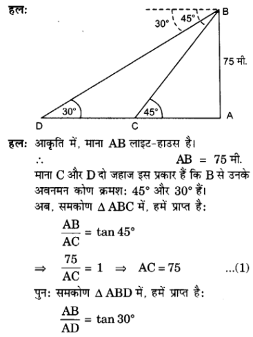 UP Board Solutions for Class 10 Maths Chapter 9 Some Applications of Trigonometry 13