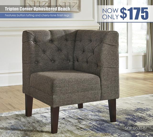 Tripton Corner Upholstered Bench_D530-07